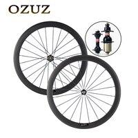Custom duty free standard wheels 50mm clincher tubular carbon road wheels 3k matte 700c bicycle wheelset Novatec 271 hubs wheels