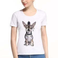 MOE CERF Funny Animals Bad Dog Police Dept Design T Shirt Women Punk Tattoo Dogs Summer Short Sleeve Casual Tops L10-C-93