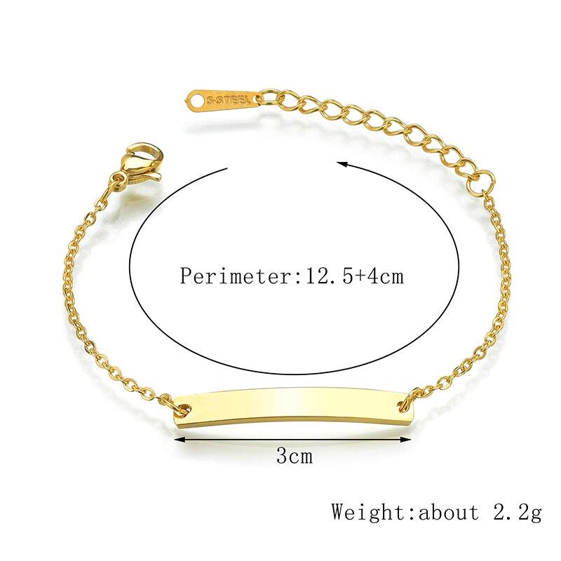 Nameplate Baby Boy Bracelet