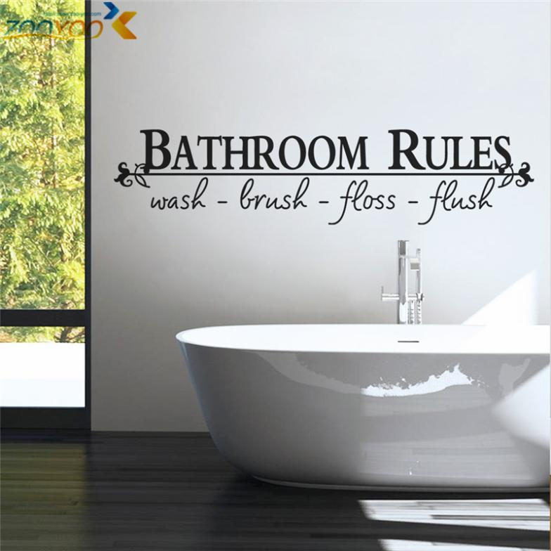 Buy bathroom rules home decoration for Small bathroom quotes