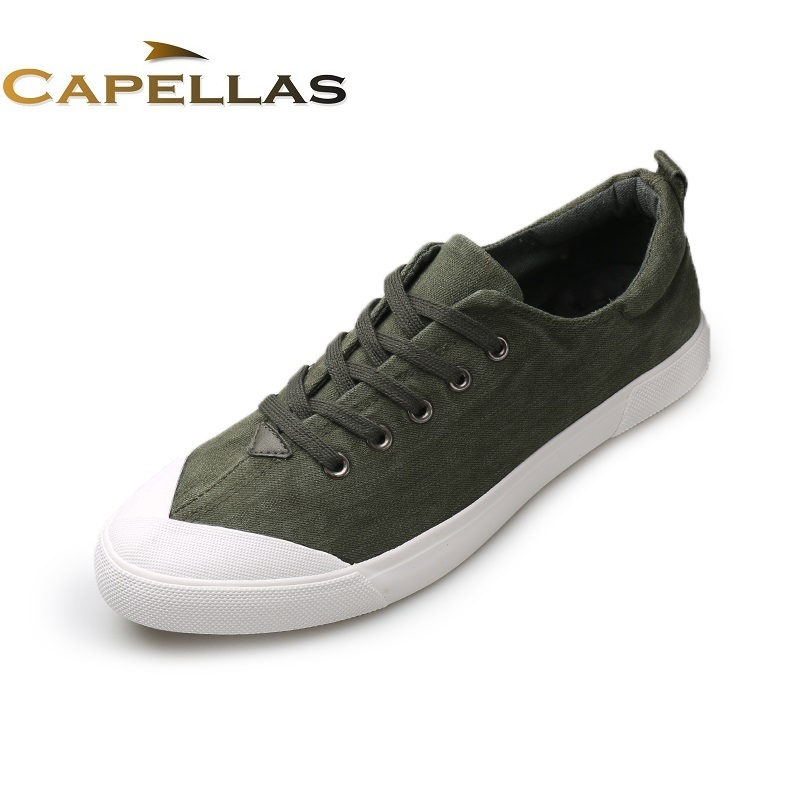 купить  CAPELLAS New Arrival Spring Autumn Breathable Casual Shoes for Mens Canvas Shoes Men Lace-Up Brand Fashion Flat Shoe Zapatos  онлайн