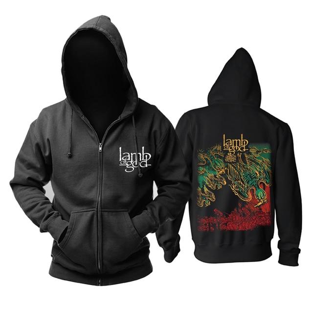 Bloodhoof LAMB OF GOD Death Metal Concert Retro TOP hoodie Asian Size