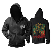Bloodhoof LAMB OF GOD Death Metal concierto Retro TOP Sudadera con capucha talla asiática