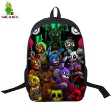 Anime Cartoon Five Nights at Freddy's Backpack Boys Girls School Bags Womens Mens Laptop Backpacks Kids FANF School Backpacks(China)