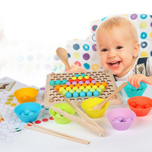 2019 New Montessori Early Education Children's Toys Beads Clip Marbles Balance Sense Training Children's Toys Infants Toys Gift