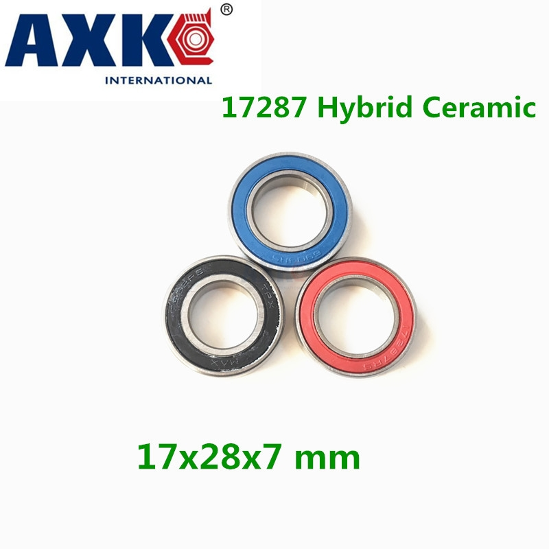 17287-2rs Wheel Hub Bearing Stainless Steel Si3n4 Hybrid Ceramic Bearing 17287 2rs 17*28*7mm Bicycle Bearings цена и фото