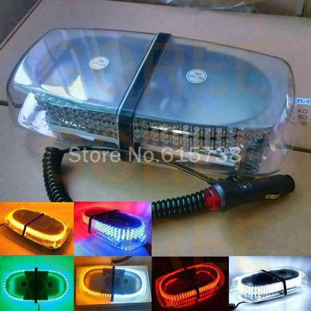 High Power 240 LED Car Roof Flashing Strobe Beacon Warning light Magnet Police LED Emergency Flare Vehicle Lightbar 12V 6 colors