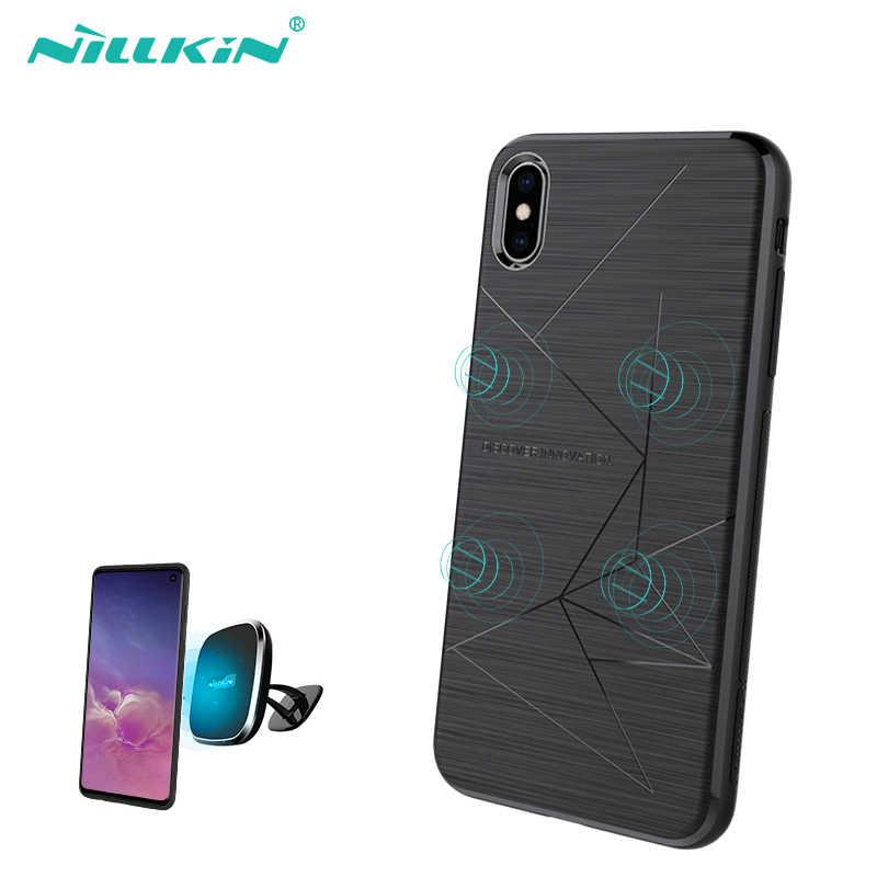 Mobil Magnetik Ponsel Case untuk iPhone XR X 8 X Case Cover NILLKIN Case untuk Samsung Samsung S9 S10 S8 plus Catatan Dudukan Telepon Mobil