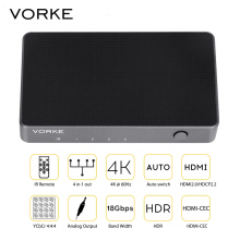 [In Stock] VORKE HD41 4×1 HDMI Switcher HDMI2.0 HDCP2.2 10bit HDR 4k*2k@60Hz(4:4:4) 18Gbps for 4K TV XBox One S, PS4 PRO, TV box