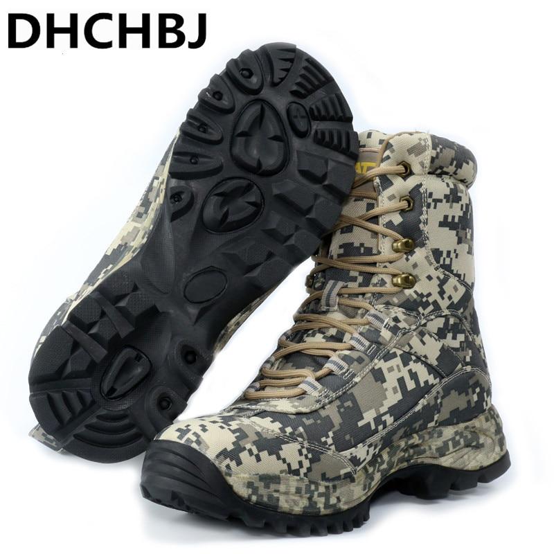 Chaussures de randonnée en plein air Camouflage hommes bottes de chasse imperméables bottes de Combat du désert militaire trekking escalade