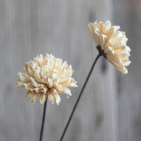 One Piece Calliopsis Natural Plant Material Handmade Combination Art Flower With Malleable Iron As Rod Dried