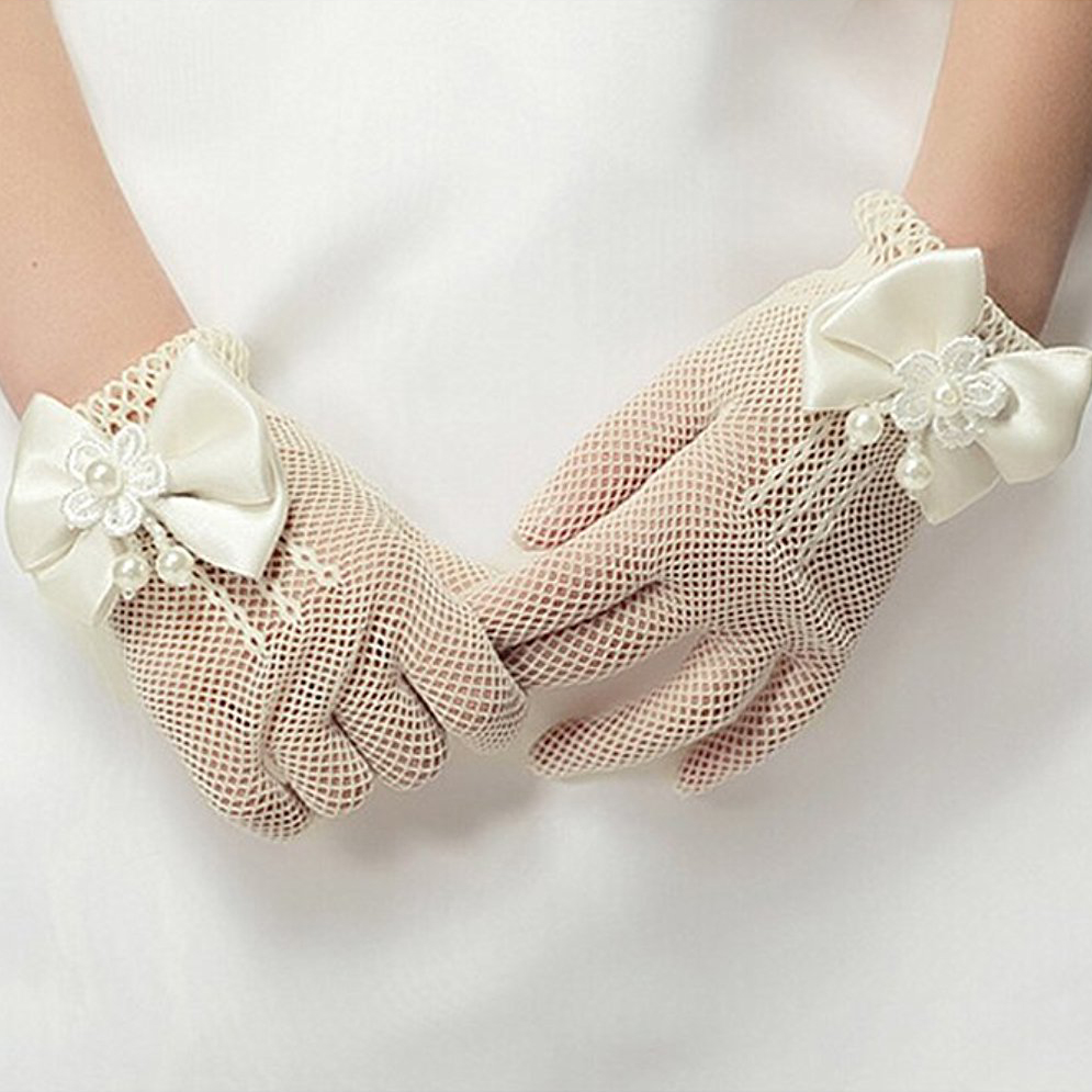 Accessories Infant Baby Mittens Child Elbow Short Party Gloves Wedding 4 Colors 1 Pair Kids Girls Bow Gloves Keep You Fit All The Time