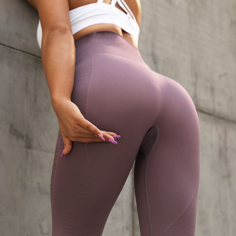 NORMOV Women For   Leggings   Sexy -fitting Hollow High Waist Fitness   Leggings   Casual Exercise Large Size 5 Color   Legging