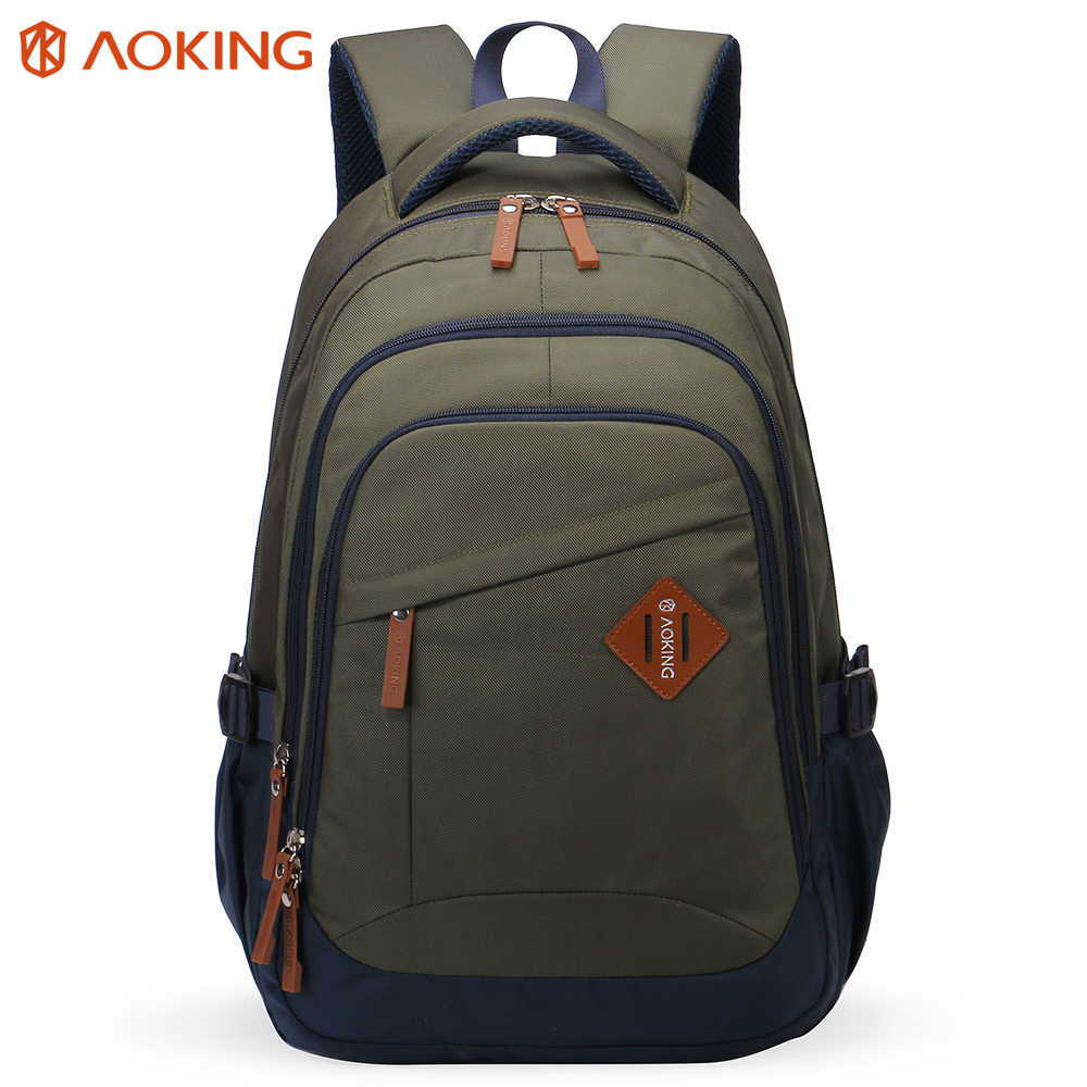 Aoking Nylon Unisex Backpack College Student School Backpack Bags for Teenagers Simple Mochila Casual Rucksack Travel Daypack