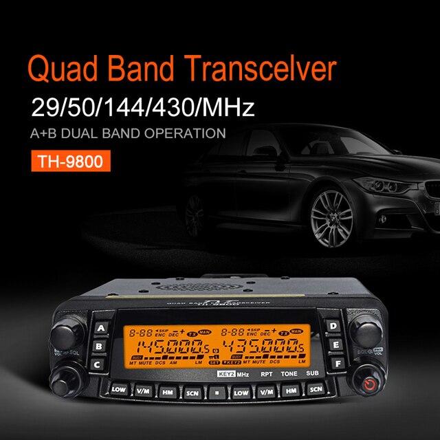 TYT TH-9800 50W Mobile Radio Transceiver VHF UHF Quad Band Car Radio Station CB Walkie talkie for truckers Ham Radio Toky Woky