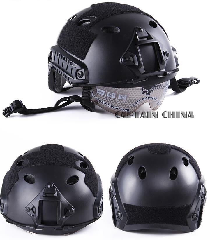 Casque de protection rapide casque de protection casque de saut de Type parasauvetage casque militaire tactique airsoft