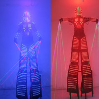 LED Costume Light suits Clothing LED Robot Suits David Robot Customized For Stilts Clothes Luminous Costumes