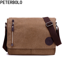 ФОТО peterbolo designer daily shoulder bag high quality for teenagers male vintage crossbody bag boys preppy style sacoche homme