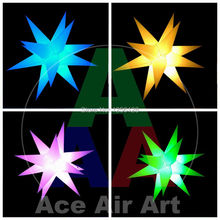 Stage and night club decoration Hanging lighting LED  inflatable star