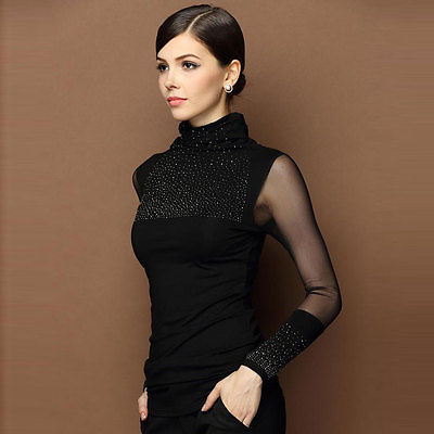362ce463dfa M 3XL Sexy Lace Tops Autumn 2016 blusas new Slim Plus size lace blouse long  sleeve Casual shirt beaded openwork Women clothing-in Blouses   Shirts from  ...