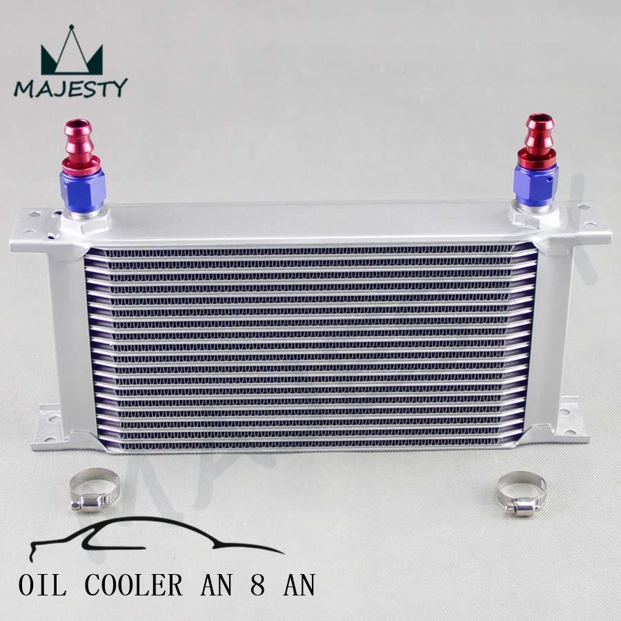 An8 8an an 8 45 degree reusable swivel ptfe hose end - 2 Aluminium 8an Oil Cooler 19 Row Engine Oil Cooler An8 Fitting