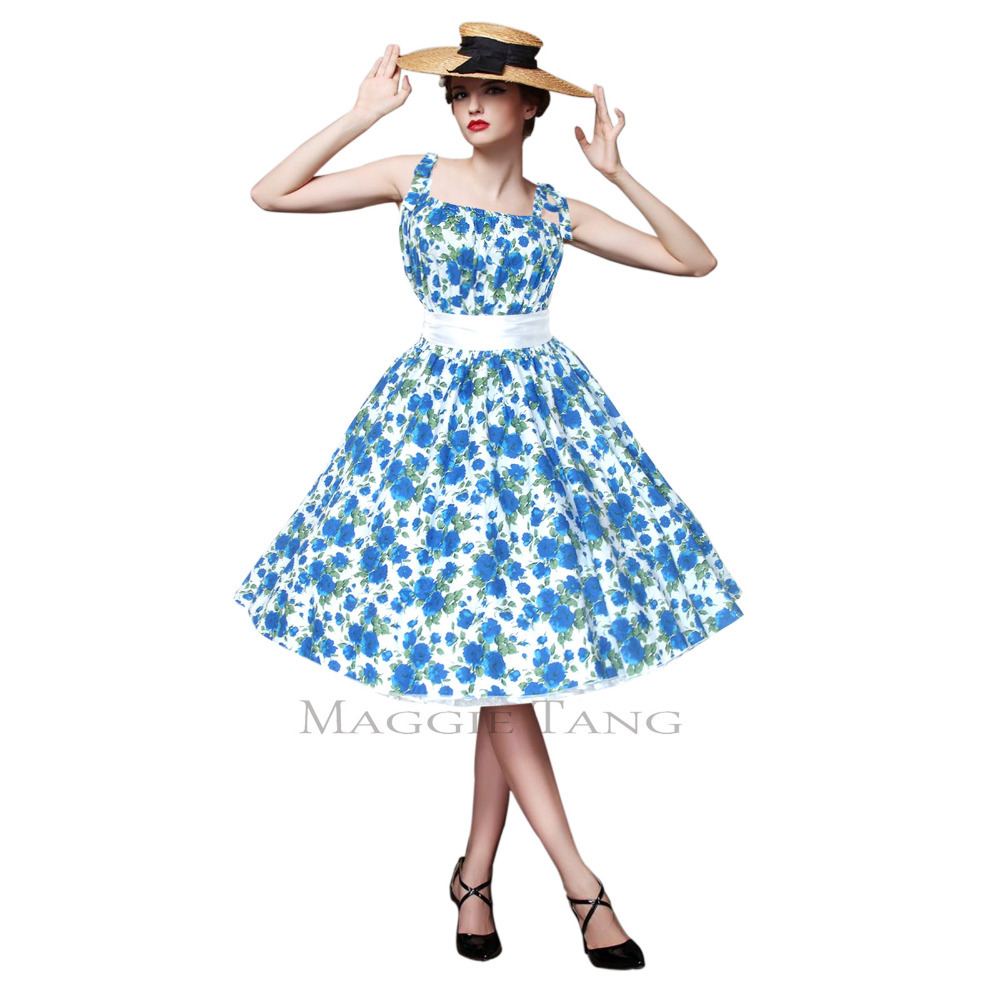 2015 New Fashion Women Maggie Tang 50s 60s Vintage Swing Jive ...