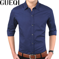 GUQEIfactory 2015 New Spring Business Mens Vetement Homme Long Sleeve Shirt Solid Color Office Meeting Plus
