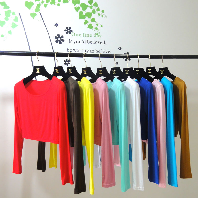 Arabic Modal Manset clothing muslim tops musulman Long-sleeved half-shirt bottoming shirt