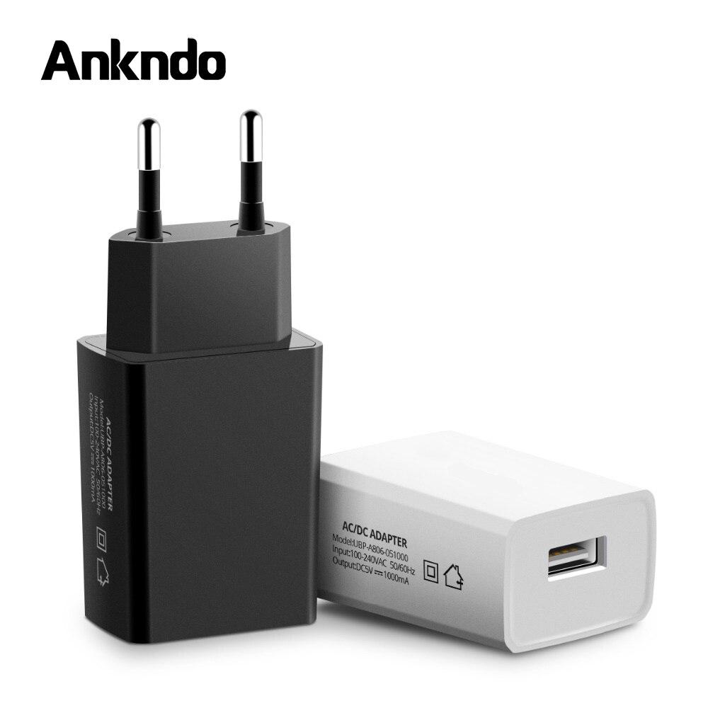 Ankndo мини USB зарядное устройство для телефона 5V 1A быстрое зарядное устройство портативное зарядное устройство USB 5W EU адаптер Универсальное з...