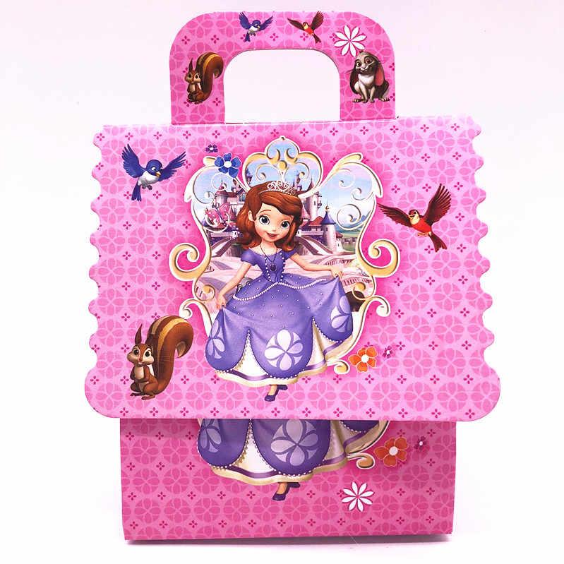 Baru 6 Buah/Banyak Anak-anak Pesta Ulang Tahun Sofia Putri Tema Hadiah Kotak Permen Tas Dekorasi Pesta
