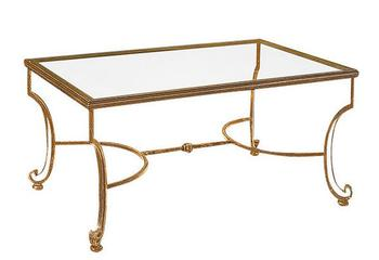 Artistic personality, wrought iron tempered glass tea table. The sitting room Rectangular coffee table