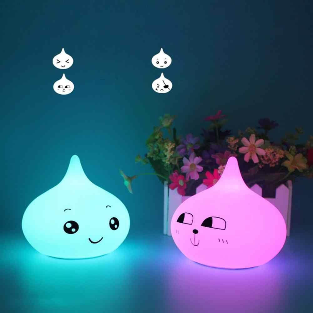 USB Перезаряжаемый СВЕТОДИОДНЫЙ цветной ночник в форме капли воды силиконовый Pat лампа для детей подарок