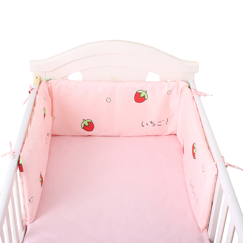 One-piece Baby Bed Bumper Cotton Newborn Cot Protector Bumpers 180*30cm Crib Around Cushions Cot Bumpers Bedding For Infant