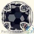 Горячая распродажа черный кристалл бусины томас стиль карма бусины хорошие драгоценности для женщин 2015 ц подарок в с покрытием
