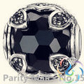 Hot Sale Black Crystal Bead Thomas Style Karma Beads Good Jewelry For Women 2015 Ts Gift In silver-plated