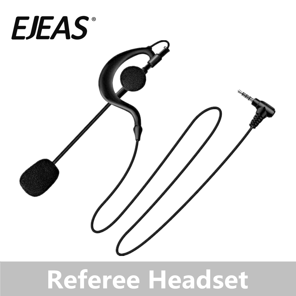 EJEAS Microphone Ear Hanging Headphones Football Match Referee Microphone Headphones Motorcycle Intercom Headsets