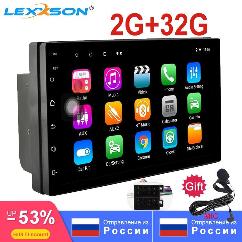 2G + 32G universel 2Din Android 8.1 autoradio RDS pour universel GPS 1024x600 Wifi BT FM AM miroir lien unité de tête 7