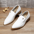 New 2017 arriving men oxfords shoes pointed toe genuine leather flats breathable brogues wedding dress shoes size:38-43