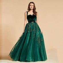 Tanpell vintage evening dress straps beading velvet floor length a line gown women prom custom formal long dresses