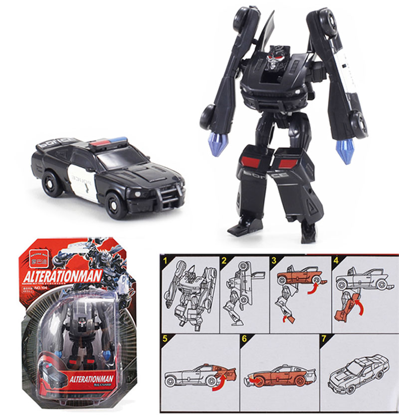 Image 2 - Kitoz Transformation Series Mini Robot Car Action Figure Model Deformation Plastic Toy Gift for Boy Children-in Diecasts & Toy Vehicles from Toys & Hobbies