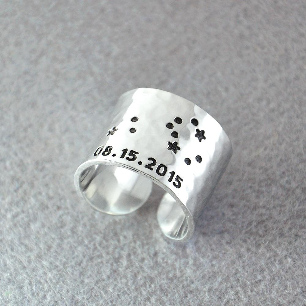 Leo Zodiac Ring Personalized