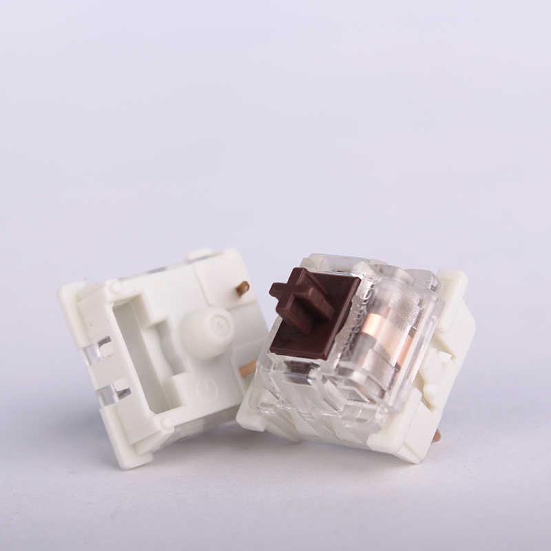 1 個オリジナル NewGiant Mx メカニカルキーボードスイッチ 3 ピンクリア防塵黒茶青赤軸スイッチ mx 用