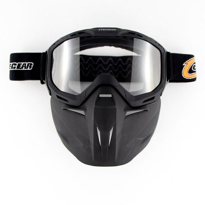 Cyclegear Moto велосипеда открытым лицом шлем маска очки Мотокросс маска, Multi Функция Винтаж Шлем Щит CG02