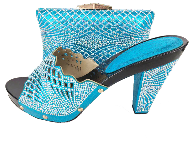 2017 newest fashion party turquoise blue shoes and bag matching set for  your nice tulle lace fabric dress shoes BCSB0018 -in Women s Pumps from  Shoes on ... 10bf92a05b8a
