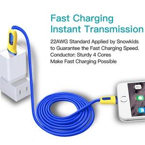 Image 4 - Snowkids Kabel 2 stks/partij voor iPhone X 8 7 6 5 XR XsMax Warriors Ontwerp 1.5m voor Lightning naar USB Snel Opladen