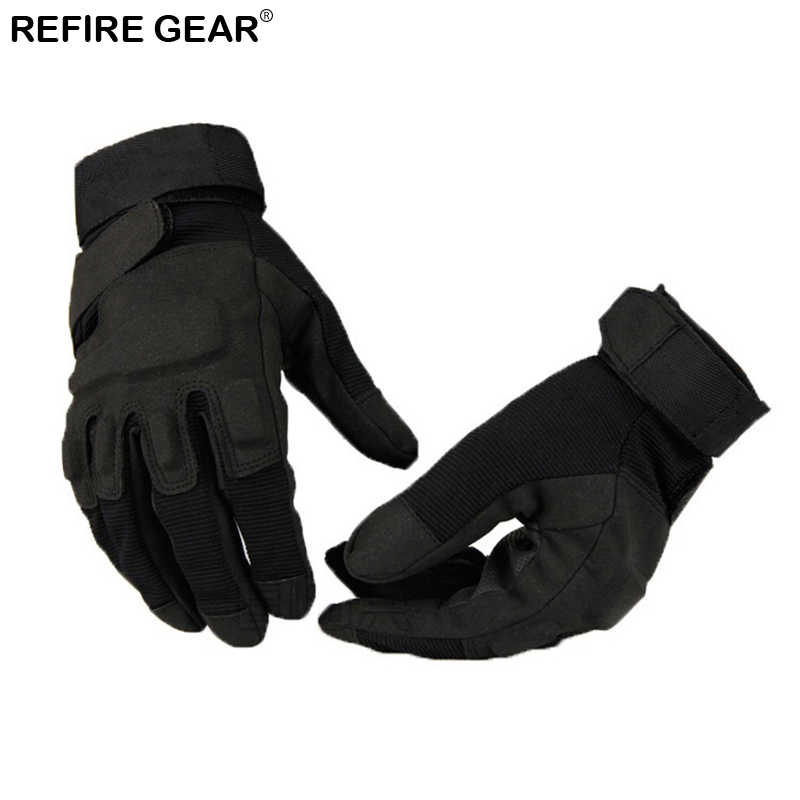 Refire Gear Winter Cycling Full Finger Shooting Gloves Men Outdoor Hiking Gloves Climbing Mitten Male Riding Bicycle Gloves