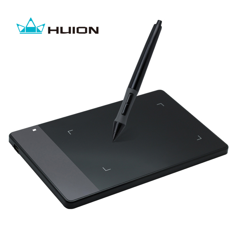 Huion 420 Professional Pen Graphics Drawing Tablet Signature Pad OSU! Tablet + Battery Pen -- Black and White huion h610 8 expresskey usb graphic pen tablet black