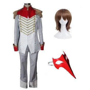 Pełne zestawy Persona 5 Goro Akechi przebranie na karnawał Akethi Gorou wrona przebranie na karnawał maska kostiumowa peruka Custom Made