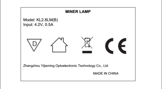 CE approved lithium battery mining led safety miner lamp