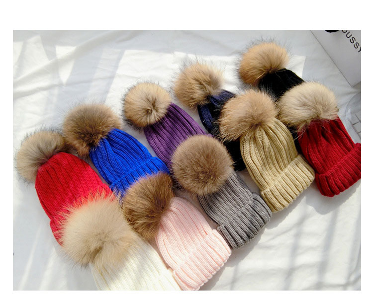 lowest price New 2017 Fashion knitted woolen women winter beanie hats with fur pompoms female autumn ladies colorful head caps hc sfs153 servo motor new in stock lowest price